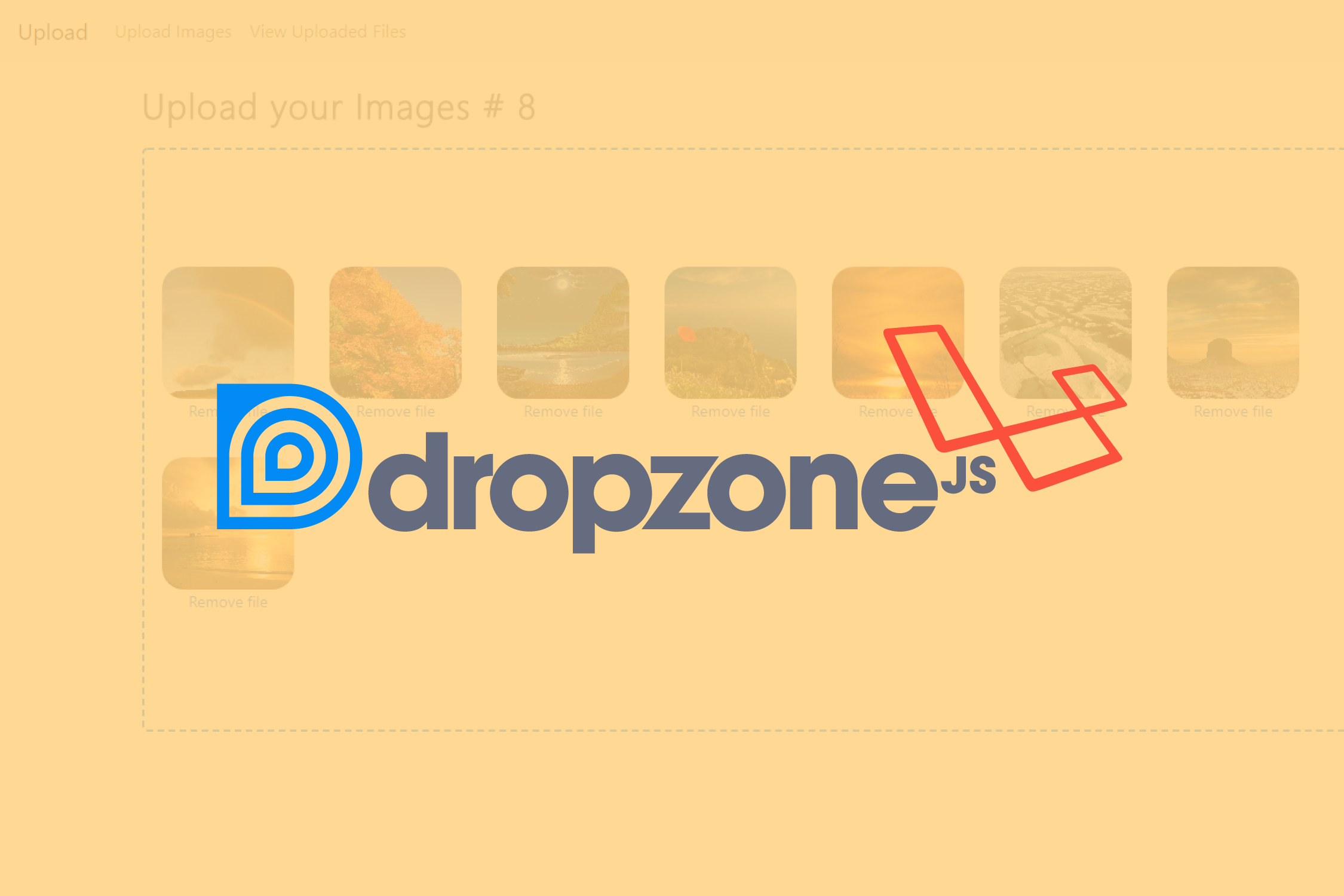 Laravel 5 5 and Dropzone js: Uploading Images with removal