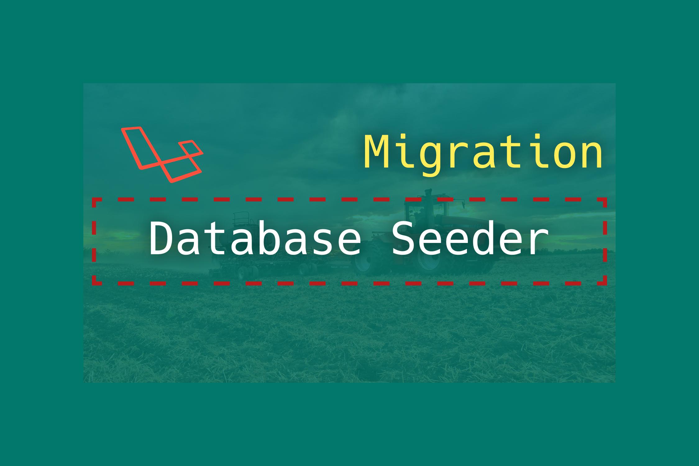 Laravel migration with database seeding | TutsForWeb