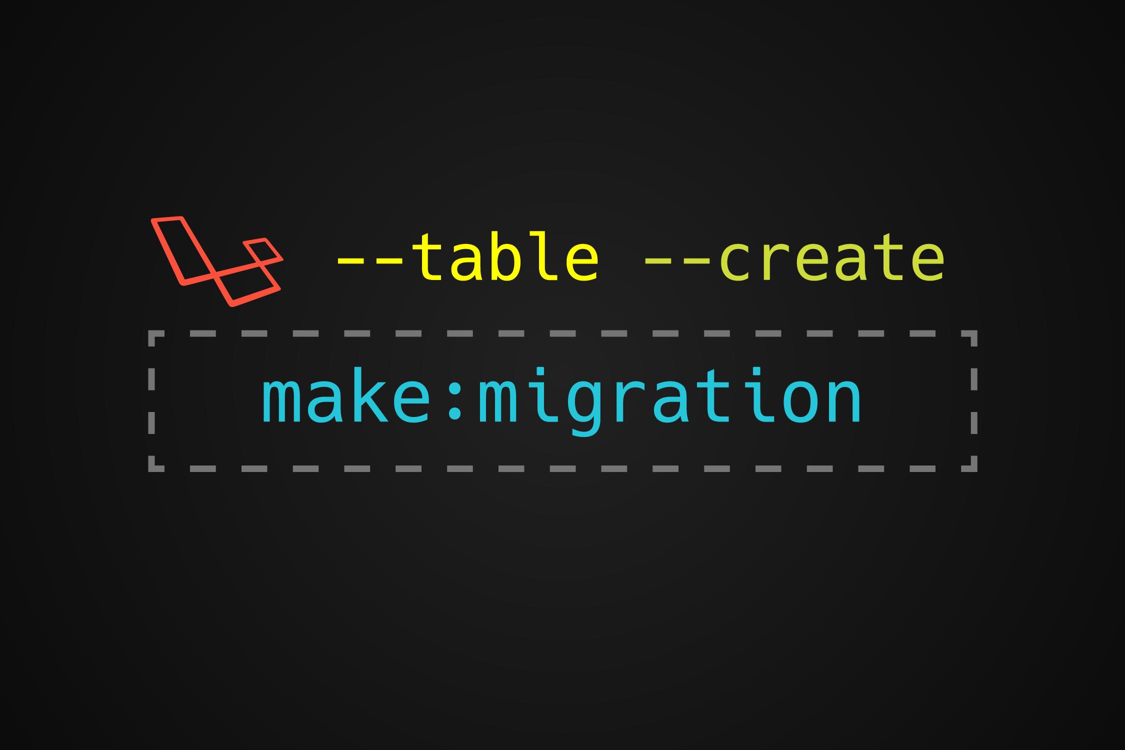 PHP make migration parameters