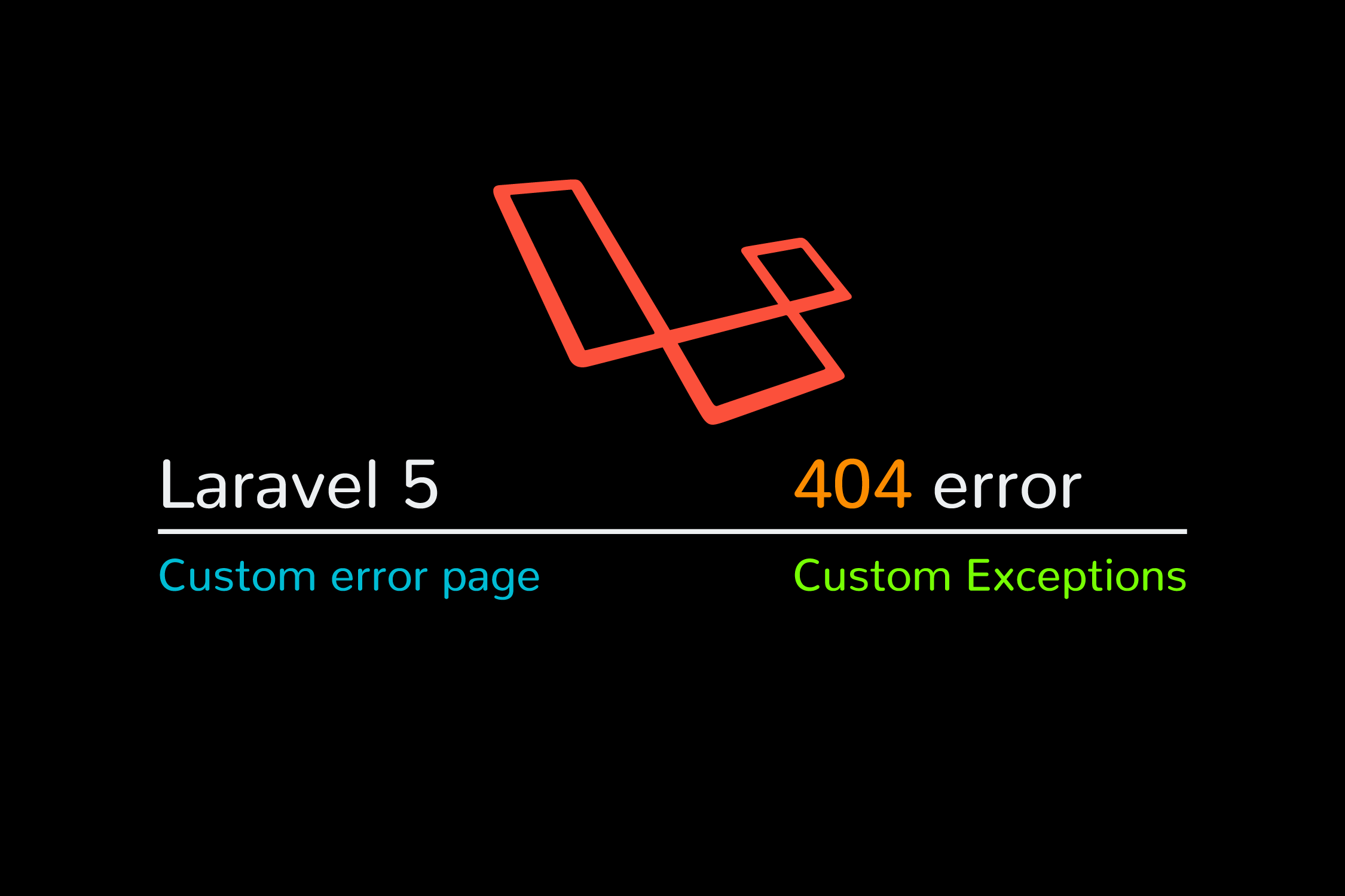 Laravel create custom 404 page