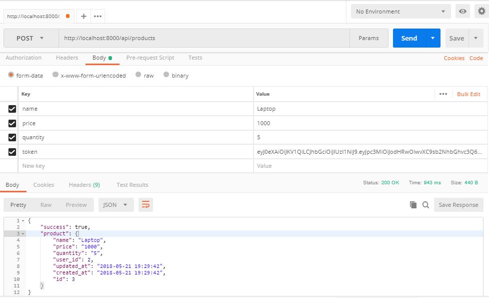 Restful API In Laravel 5 6 Using jwt Authentication | TutsForWeb