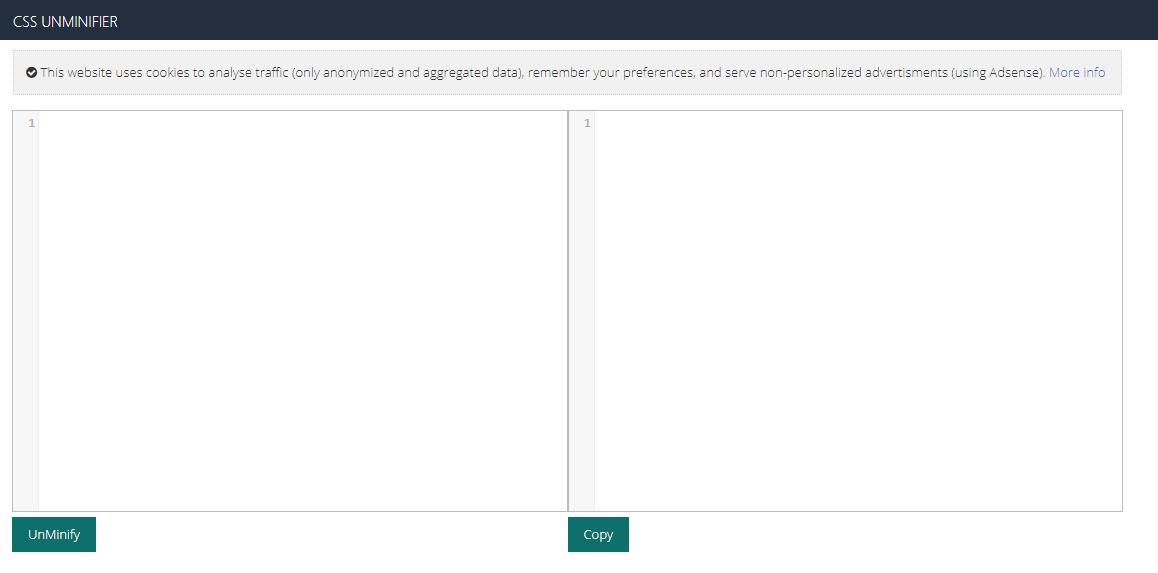 CSS Unminifier